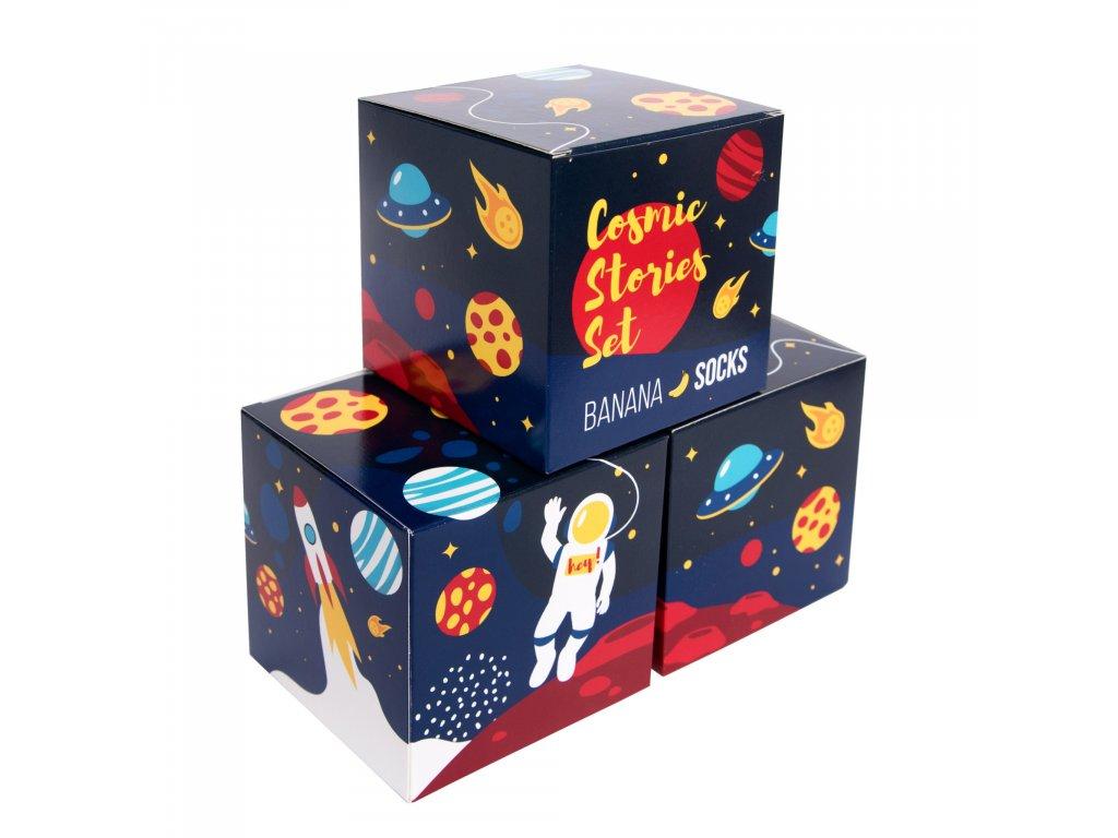 Darčekové balenie ponožiek Cosmic stories set (3 páry)