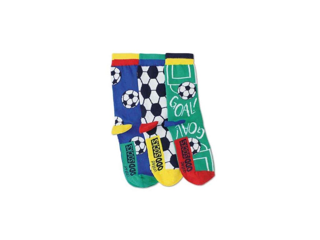 Veselé ponožky Goal 3ks veľ.: 31-39