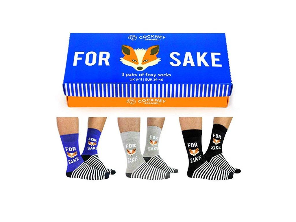 Veselé ponožky For fox sake veľ.: 39-46