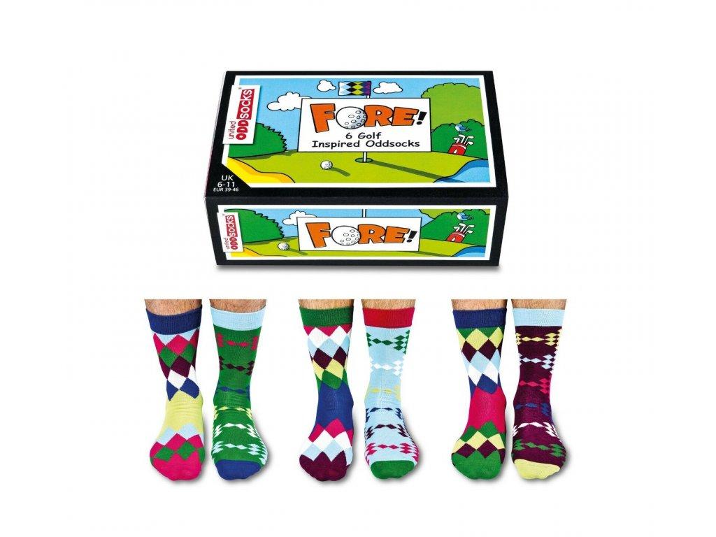 Veselé ponožky Fore Golf veľ.: 39-46