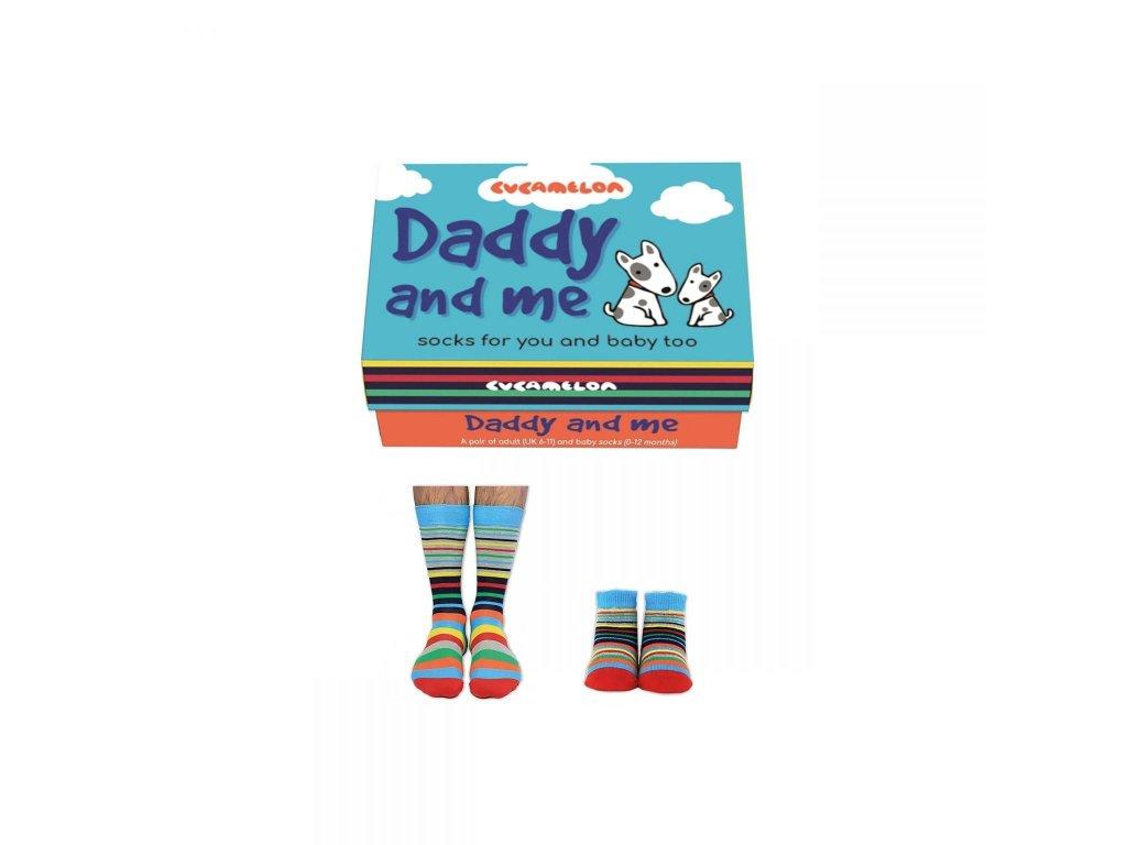 Darčekové balenie Daddy and me (Otec a syn) veľ.: 39-46 + 0-12 mesiacov