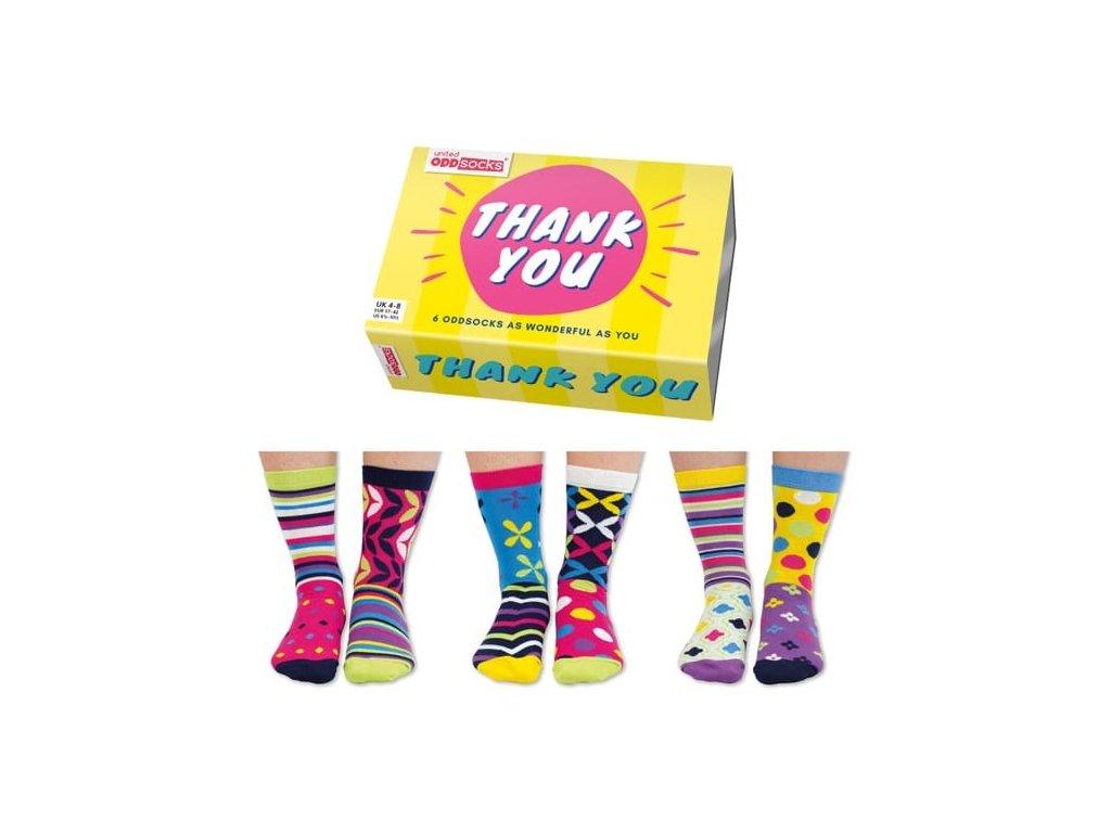 Veselé ponožky Thank You veľ.: 37-42
