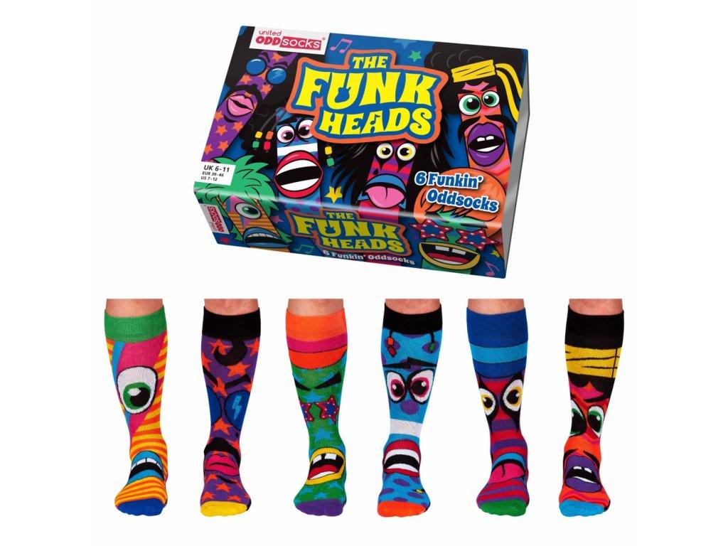 Veselé ponožky Funk Heads veľ.: 39-46