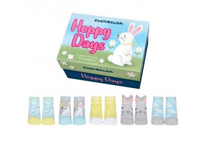 Detské veselé ponožky Hoppy Days veľ.: 0-12 mesiacov