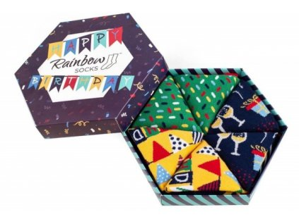 paradoo happy birthday socks box