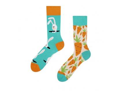 Veselé ponožky Zajac a mrkva