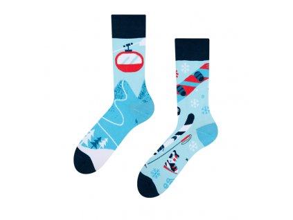 Veselé ponožky Lyžovačka