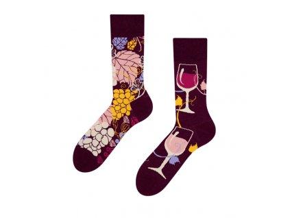 Veselé ponožky Červené víno