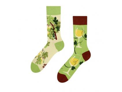 Veselé ponožky Biele víno