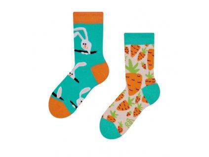 Detské veselé ponožky Zajac a mrkva