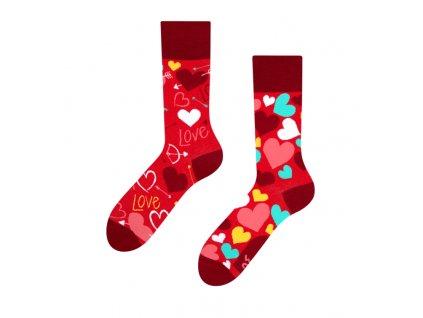 Veselé ponožky Srdiečka od firmy Good Mood