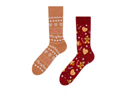Teplé veselé ponožky Perníkový svet