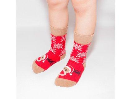 Ponožky detský vianočný sob