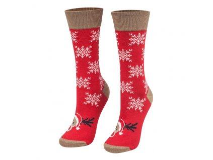 Ponožky vianočný sob