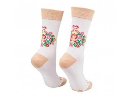 Veselé ponožky Ľudové srdiečka