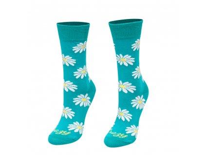 Veselé ponožky margarétky