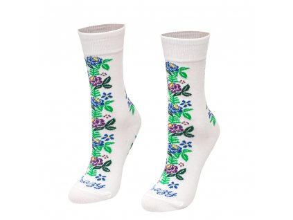 Veselé ponožky ľudová ruža
