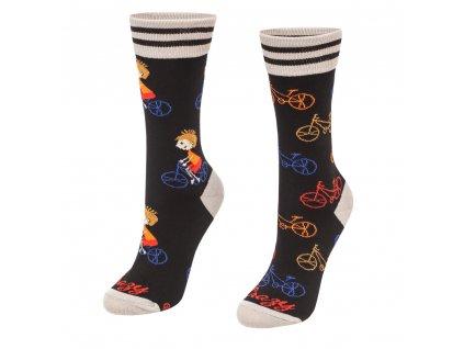 Veselé ponožky Cyklista