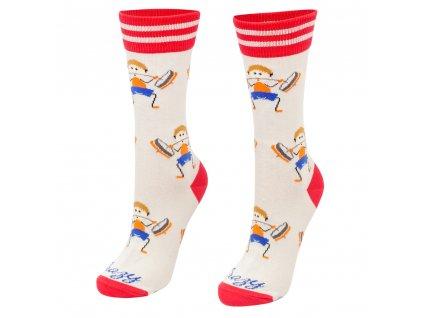 Veselé ponožky Vzpierač