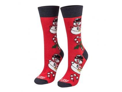 Ponožky Vianočný mix červený
