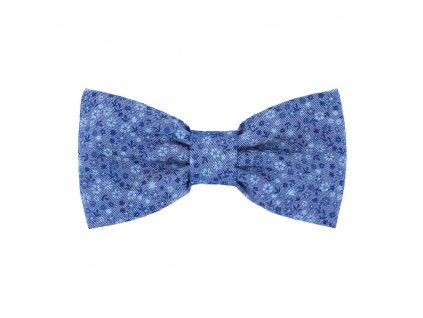 textilný modrý motýlik