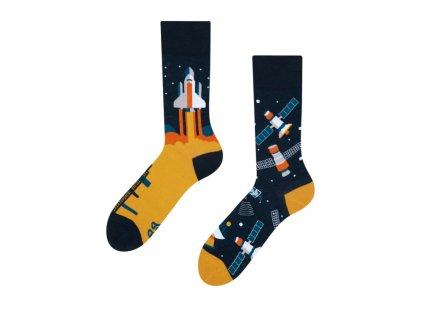 Veselé ponožky Vesmírna raketa