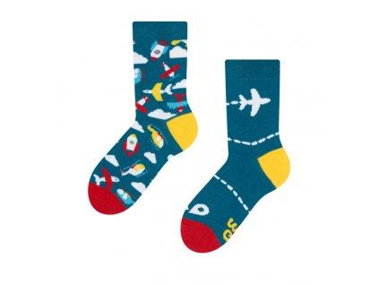 Detské veselé ponožky Lietadlá