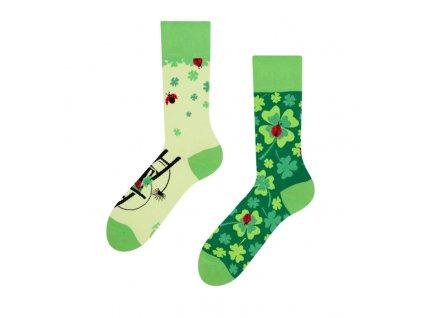 Veselé ponožky Štvorlístok pre štastie