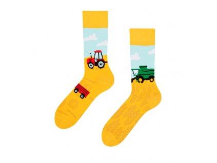 Veselé ponožky Traktor