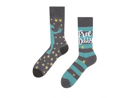 Veselé ponožky Harry Potter ™ Slobodný škriatok Dobby
