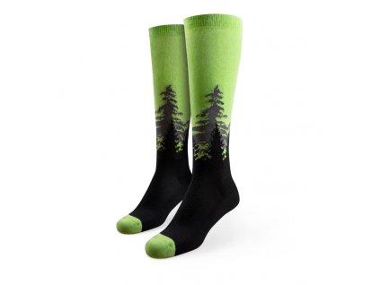 Veselé bežecké kompresné ponožky Les
