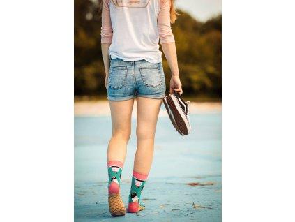 vesele ponožky zmrzlina