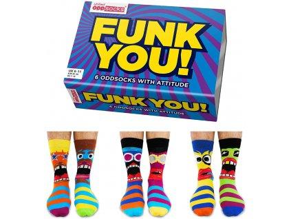 Veselé ponožky Funk You! veľ.: 39-46