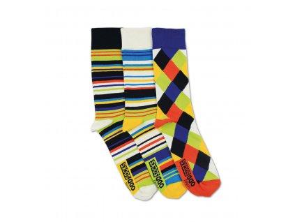 Veselé ponožky Dylan 3ks veľ.: 39-46