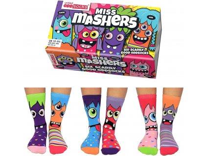 Veselé ponožky Miss Mashers veľ.: 31-39