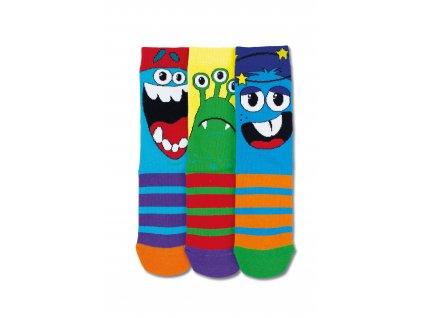 Veselé ponožky Beast 3ks veľ.: 31-39