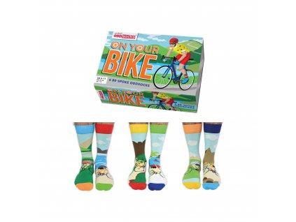 Veselé ponožky On Your Bike veľ.: 39-46