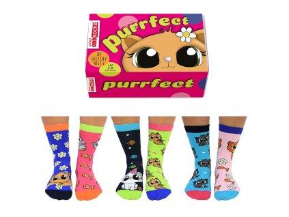 Veselé ponožky Purrfect veľ.: 37-42