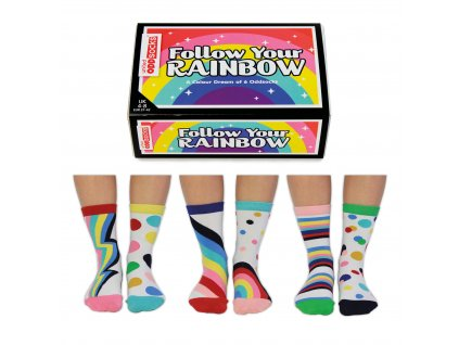 Veselé ponožky Follow Your Rainbow veľ.: 37-42