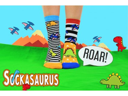 paradoo sockasaurus vesele detske ponozky 2