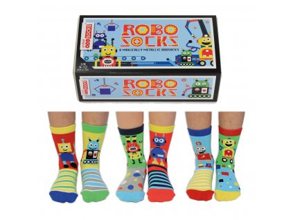 Detské veselé ponožky Robo Socks veľ.: 27-30