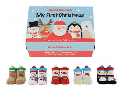 Detské ponožky My First Christmas veľ.: 0-12 mes.