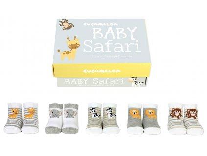 Detské veselé ponožky Baby Safari veľ.: 0-12 mesiacov od firmy Cucamelon