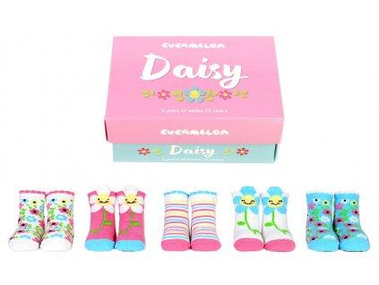 Detské veselé ponožky Daisy veľ.:1-2 roky