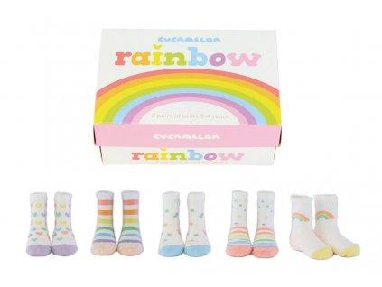Detské veselé ponožky Rainbow veľ.: 2-4 roky
