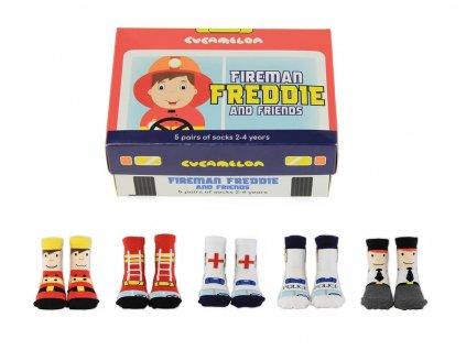 Detské veselé ponožky Fireman Freddie and Friends veľ.: 2-4 roky