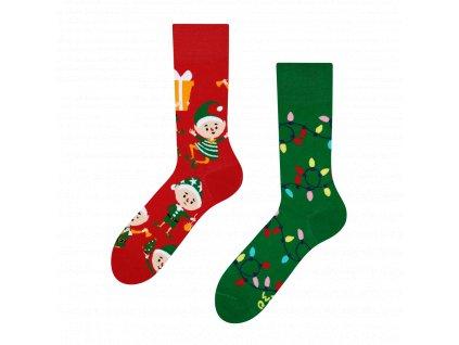 Veselé vianočné ponožky - elfovia