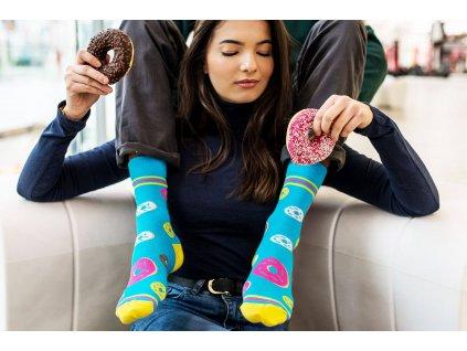 Veselé ponožky Sladký donut od firmy Hesty Socks