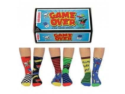 Veselé ponožky Game over veľ.: 31-39