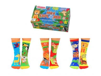Detské veselé ponožky Mini Explorer veľ.: 27-30